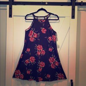 Brand NEW olive floral halter dress